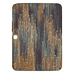 Vertical Behance Line Polka Dot Grey Orange Samsung Galaxy Tab 3 (10 1 ) P5200 Hardshell Case  by Mariart