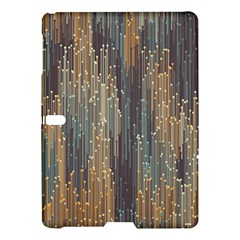 Vertical Behance Line Polka Dot Grey Orange Samsung Galaxy Tab S (10 5 ) Hardshell Case  by Mariart
