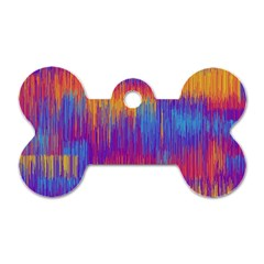 Vertical Behance Line Polka Dot Red Blue Orange Dog Tag Bone (two Sides) by Mariart