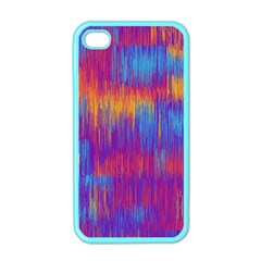 Vertical Behance Line Polka Dot Red Blue Orange Apple Iphone 4 Case (color) by Mariart