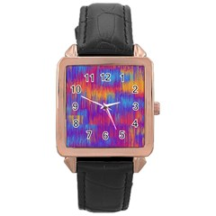 Vertical Behance Line Polka Dot Red Blue Orange Rose Gold Leather Watch  by Mariart