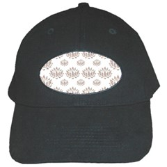 Dot Lotus Flower Flower Floral Black Cap by Mariart