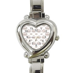 Dot Lotus Flower Flower Floral Heart Italian Charm Watch by Mariart