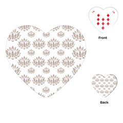 Dot Lotus Flower Flower Floral Playing Cards (heart)  by Mariart
