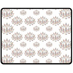 Dot Lotus Flower Flower Floral Fleece Blanket (medium)  by Mariart