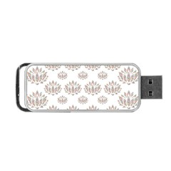 Dot Lotus Flower Flower Floral Portable Usb Flash (one Side) by Mariart