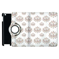 Dot Lotus Flower Flower Floral Apple Ipad 3/4 Flip 360 Case by Mariart