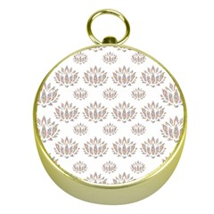 Dot Lotus Flower Flower Floral Gold Compasses by Mariart
