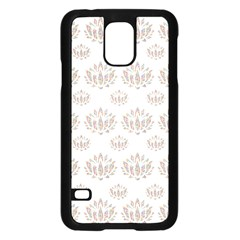 Dot Lotus Flower Flower Floral Samsung Galaxy S5 Case (black) by Mariart