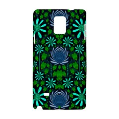 Strawberry Fantasy Flowers In A Fantasy Landscape Samsung Galaxy Note 4 Hardshell Case by pepitasart