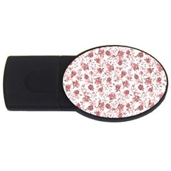 Floral Pattern Usb Flash Drive Oval (4 Gb) by ValentinaDesign