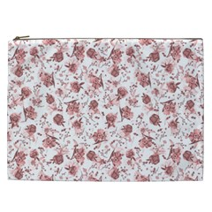 Floral Pattern Cosmetic Bag (xxl)  by ValentinaDesign