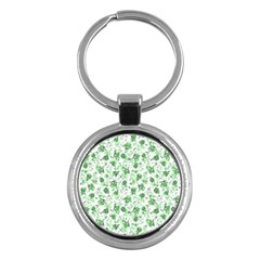 Floral Pattern Key Chains (round)  by ValentinaDesign