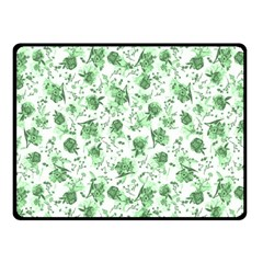 Floral Pattern Fleece Blanket (small) by ValentinaDesign