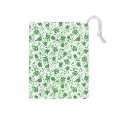 Floral Pattern Drawstring Pouches (medium)  by ValentinaDesign