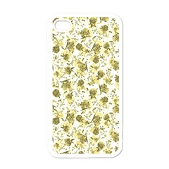 Floral Pattern Apple Iphone 4 Case (white) by ValentinaDesign