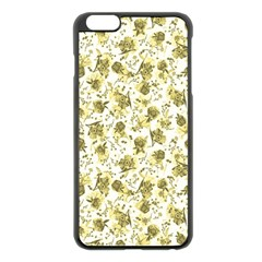 Floral Pattern Apple Iphone 6 Plus/6s Plus Black Enamel Case by ValentinaDesign