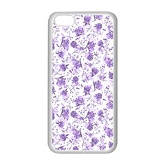 Floral Pattern Apple Iphone 5c Seamless Case (white) by ValentinaDesign