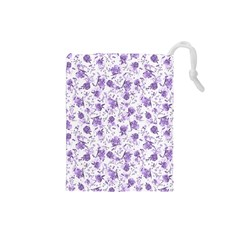 Floral Pattern Drawstring Pouches (small)  by ValentinaDesign