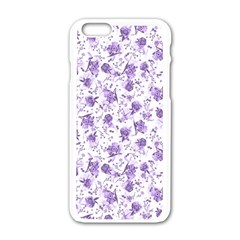 Floral Pattern Apple Iphone 6/6s White Enamel Case by ValentinaDesign