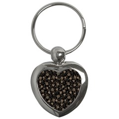 Floral Pattern Key Chains (heart)  by ValentinaDesign