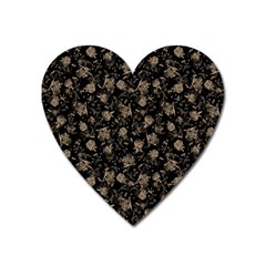 Floral Pattern Heart Magnet by ValentinaDesign