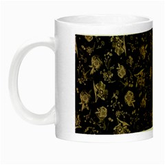Floral Pattern Night Luminous Mugs by ValentinaDesign