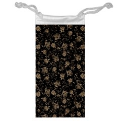 Floral Pattern Jewelry Bag by ValentinaDesign