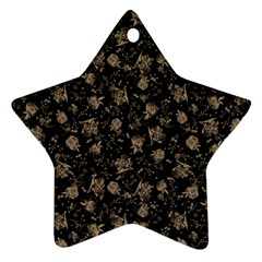 Floral Pattern Star Ornament (two Sides) by ValentinaDesign