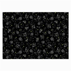 Floral Pattern Large Glasses Cloth (2 Side) by ValentinaDesign
