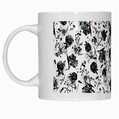 Floral Pattern White Mugs by ValentinaDesign