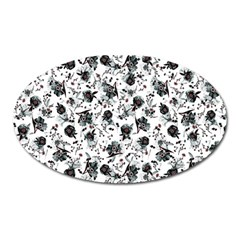 Floral Pattern Oval Magnet by ValentinaDesign