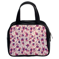 Floral Pattern Classic Handbags (2 Sides) by ValentinaDesign