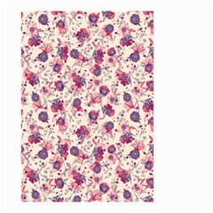 Floral Pattern Small Garden Flag (two Sides) by ValentinaDesign