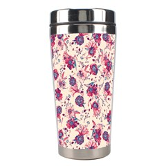 Floral Pattern Stainless Steel Travel Tumblers by ValentinaDesign