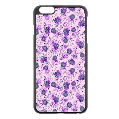 Floral Pattern Apple Iphone 6 Plus/6s Plus Black Enamel Case by ValentinaDesign