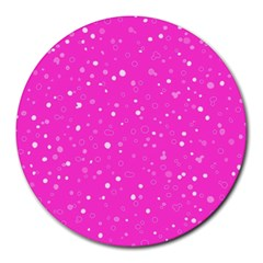 Dots Pattern Round Mousepads by ValentinaDesign