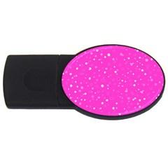 Dots Pattern Usb Flash Drive Oval (4 Gb) by ValentinaDesign