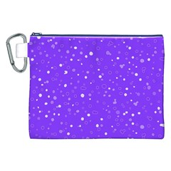 Dots Pattern Canvas Cosmetic Bag (xxl) by ValentinaDesign