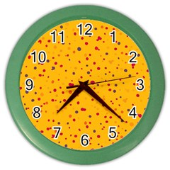 Dots Pattern Color Wall Clocks by ValentinaDesign