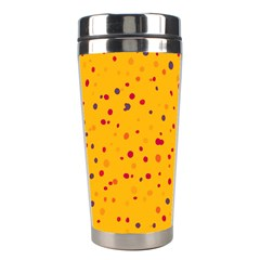 Dots Pattern Stainless Steel Travel Tumblers by ValentinaDesign