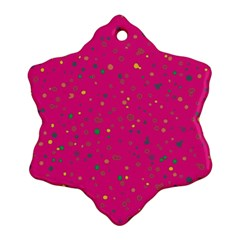 Dots Pattern Ornament (snowflake) by ValentinaDesign