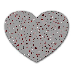 Dots Pattern Heart Mousepads by ValentinaDesign