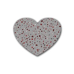 Dots Pattern Rubber Coaster (heart)  by ValentinaDesign
