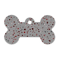 Dots Pattern Dog Tag Bone (two Sides) by ValentinaDesign