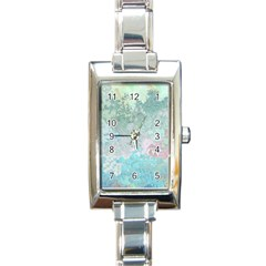 Pastel Garden Rectangle Italian Charm Watch by theunrulyartist