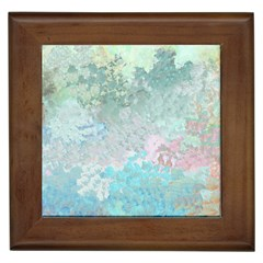 Pastel Garden Framed Tiles by theunrulyartist
