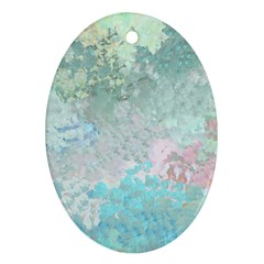 Pastel Garden Ornament (oval) by theunrulyartist