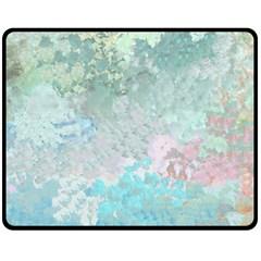 Pastel Garden Double Sided Fleece Blanket (medium)  by theunrulyartist