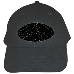 Dots Pattern Black Cap by ValentinaDesign